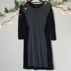 Mossimo Black and Gray Sweater Dress
